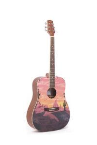 Sunset Acoustic Guitar